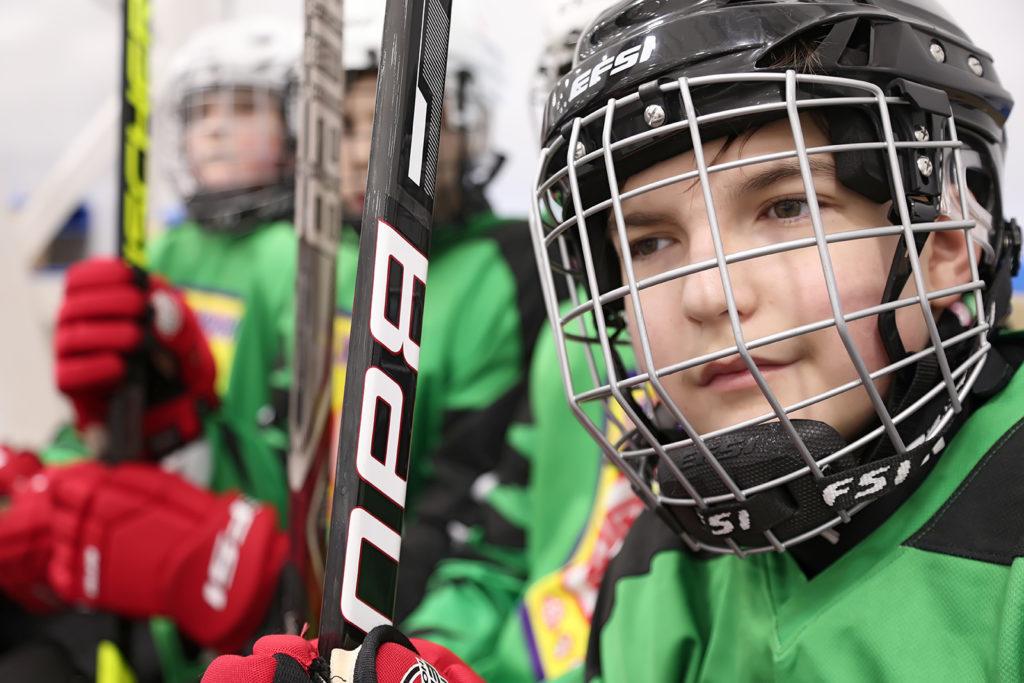 Первый в истории России хоккейный матч среди незрячих команд