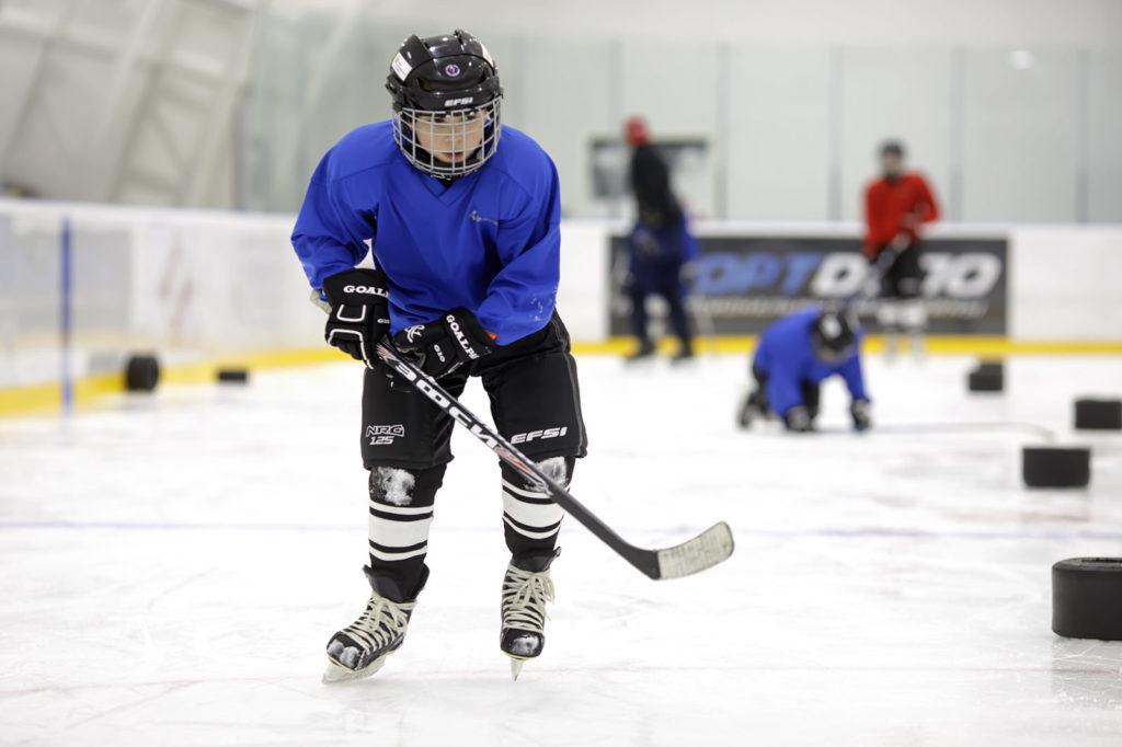 Мастер-класс по хоккею для незрячих