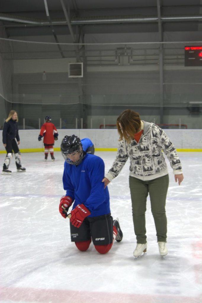 Тренировка специальный хоккей