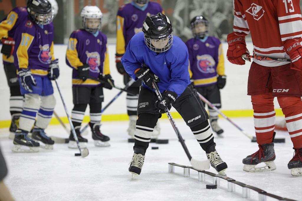 Мастер-класс по хоккею для незрячих в Москве