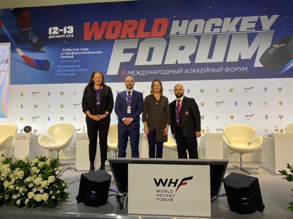 Впервые на Международном хоккейном форуме представлена секция, посвящённая адаптивному хоккею